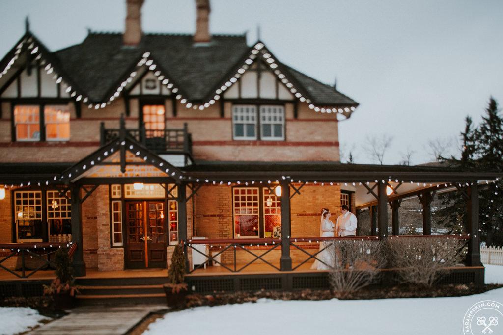 calgary winter wedding at the ranche