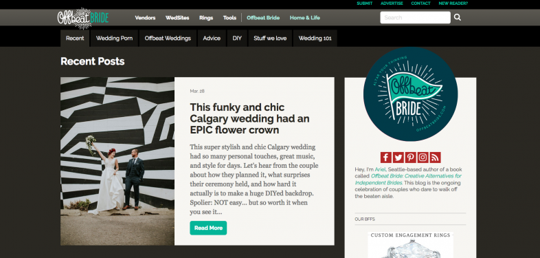 Featured on Offbeat Bride – Downtown Calgary Wedding Festival Hall 3