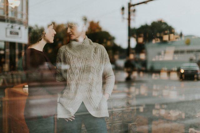 Heather & Lindsay - Romantic Inglewood Engagement Photography in Calgary.
