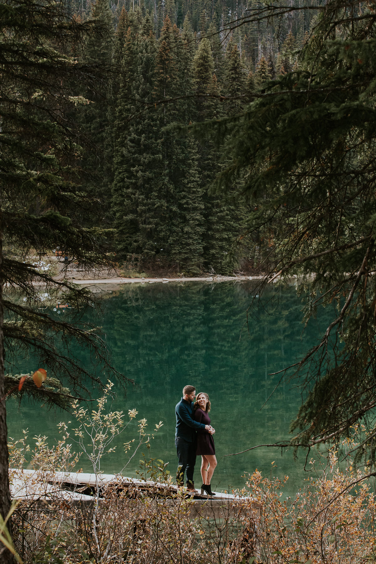 Emerald Lake Lodge Engagement Photographer