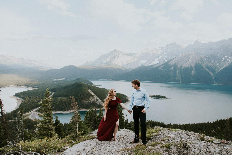 Engagement photos in the Canadian Rockies - Sarah Pukin