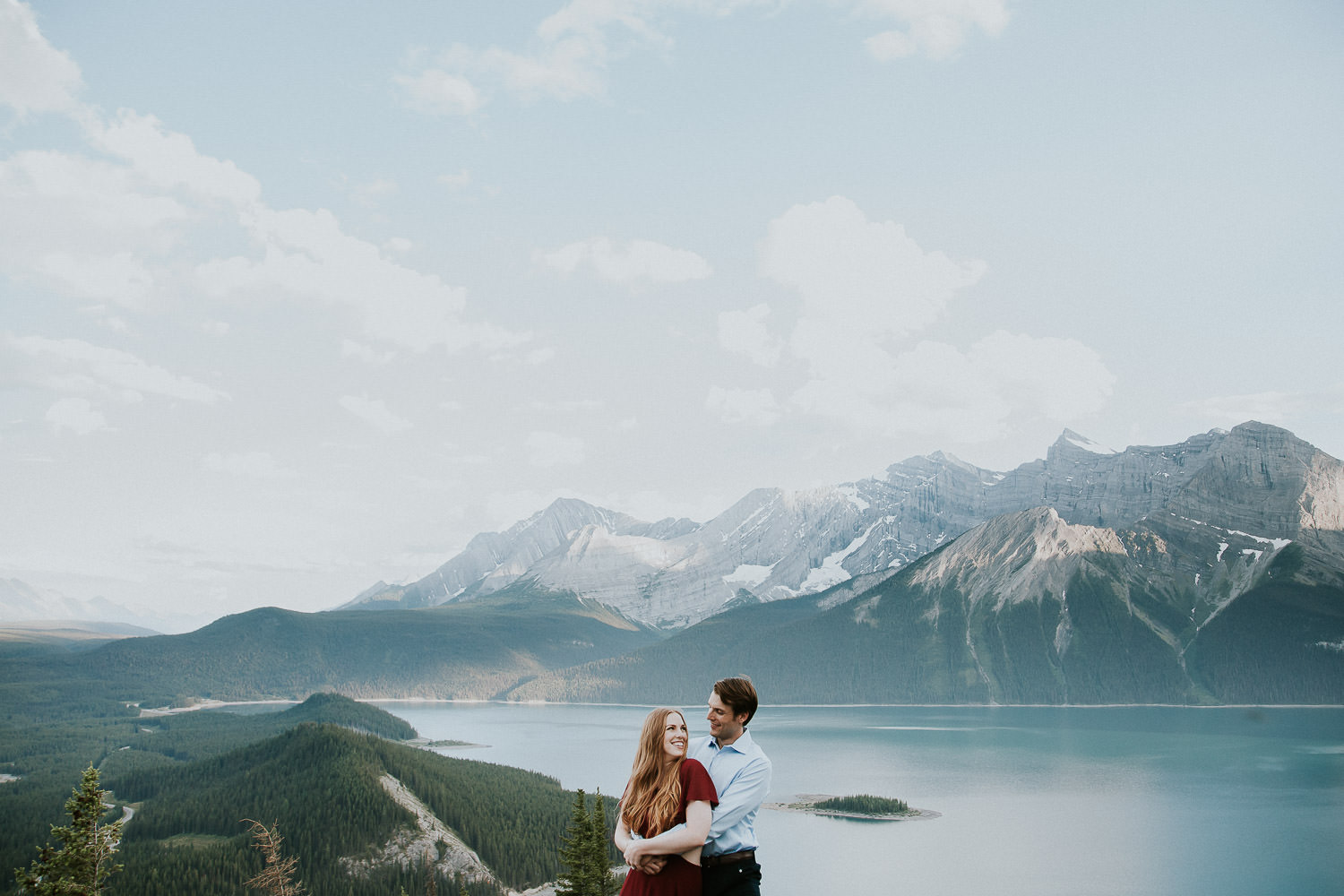 epic views at the top of a mountain for engagement photos - Sarah Pukin