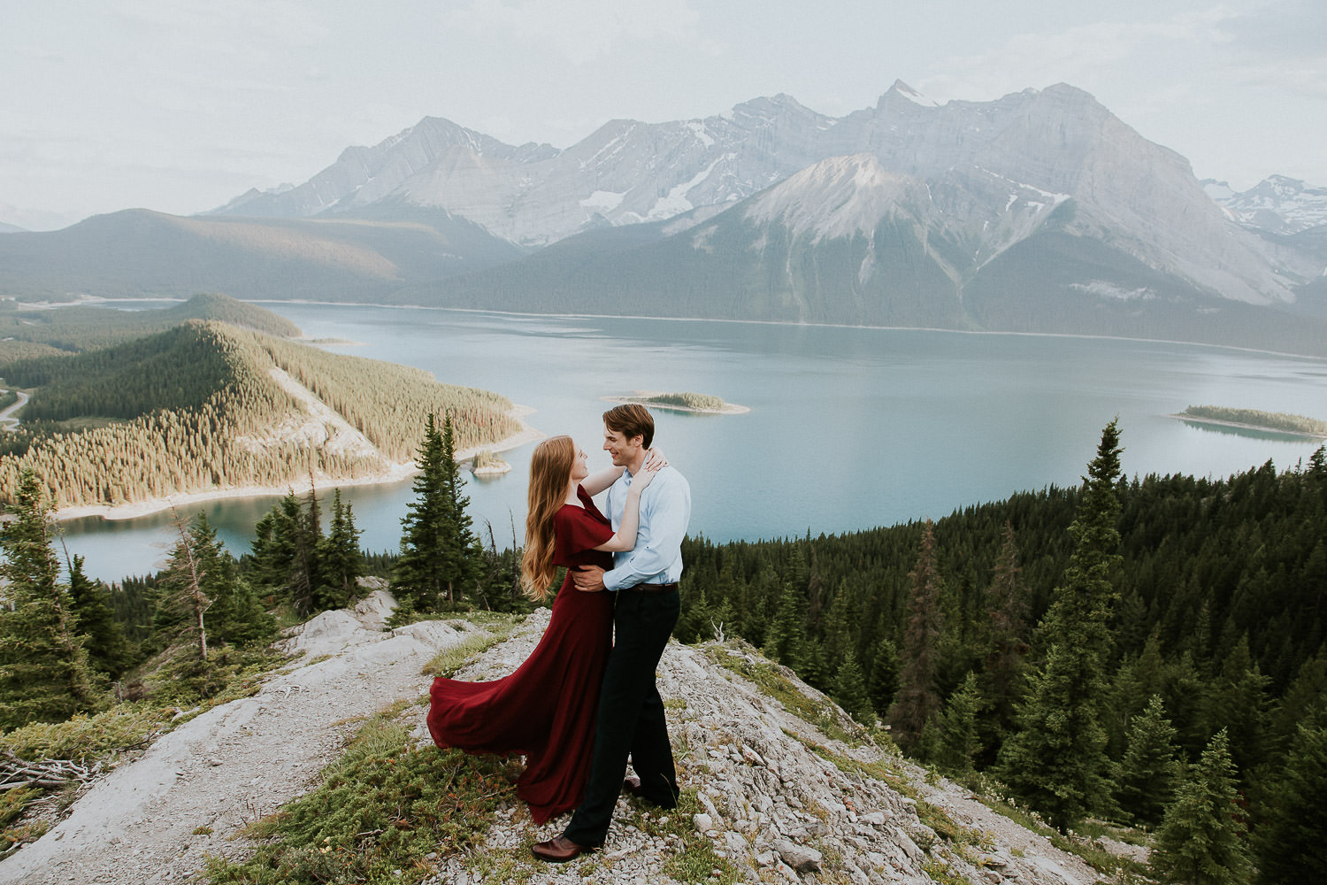 dancing in the moonlight in the Canadian Rockies