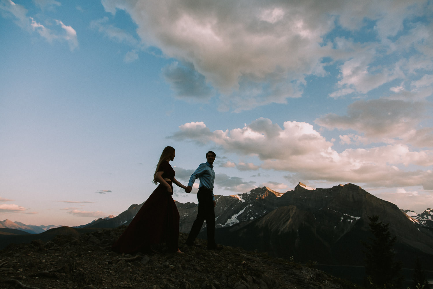 epic engagement photos in the mountains with Canadian Rockies photographer Sarah Pukin
