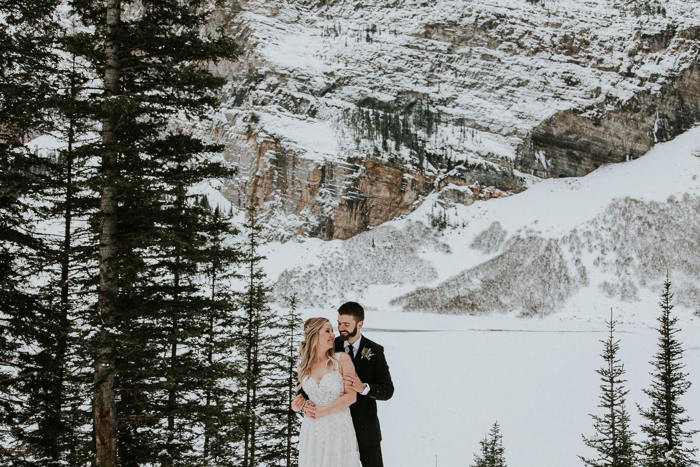 adventurous wedding in Lake Louise