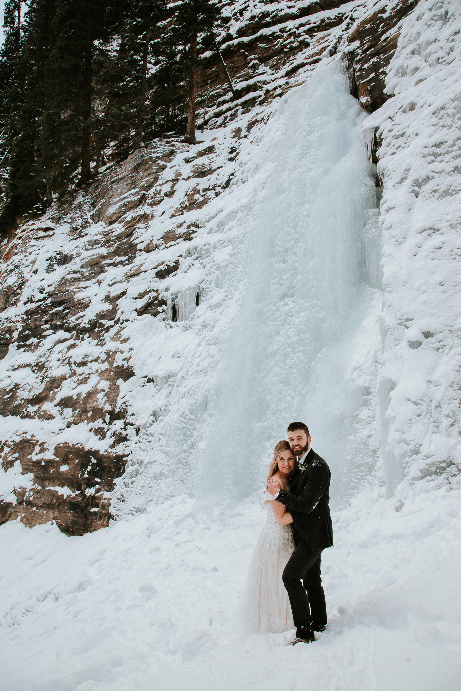 ice cave in Lake Louise wedding