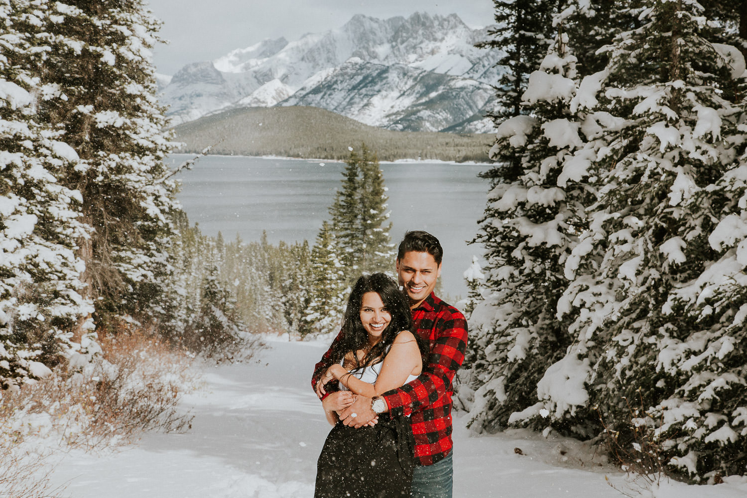 covered in snow engagement photos - Sarah pukin